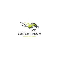 leap frog logo vector