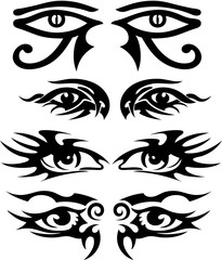 Tribal Tattoo Designs Eyes 1 pattern
