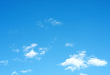 Landscape View of Blue Sky with Cloud Background