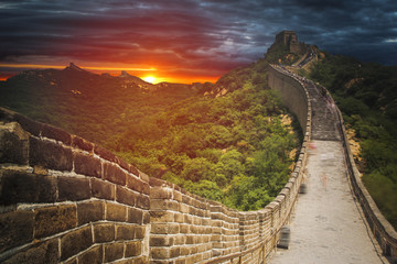 Fotobehang Chinese Muur great Chinese wall