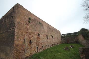 Historical ovens to make bricks from clay in Hitland, The Netherlands.