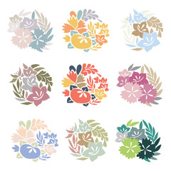 Flower colorful vector. Floral icon and symbol background.
