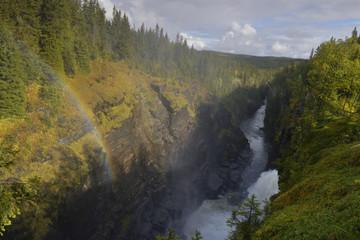 Hällingsåfallet Wasserfall  in Schweden