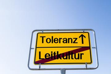 Toleranz statt Leitkultur