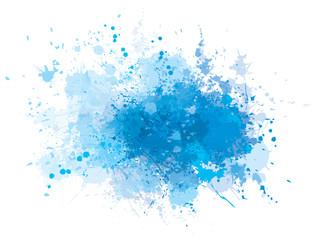 Vector blue  splashing  blot.