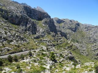 mountainous countryside on the way to Sa Calobra, Mallorca, Ballears