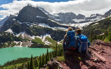 Hiking in Glacier NP / Wanderer im Glacier NP