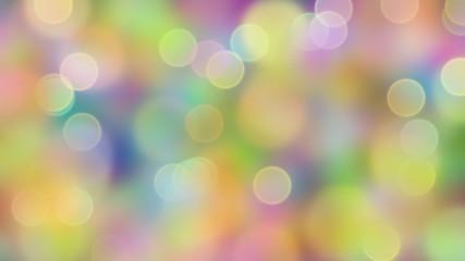 Dromerig bokeh in frisse kleuren