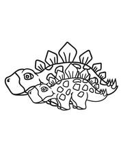2 freunde team paar familie kind junges nachwuchs mama papa stegosaurus süß niedlich klein pflanzenfresser echse dino saurier dinosaurier groß comic cartoon freundlich