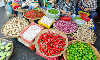 food market in Vietnam