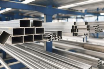 metal inox pipe on stack