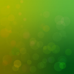 Vector background with yellow and green bokeh effects