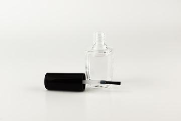 Bottle with nail polish isolated