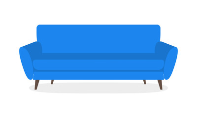Sofa icon isolated on white background. Couch for living room. Vector illustration.