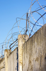 reinforced concrete fence barbed wire fencing protection zone prohibited