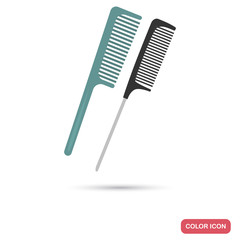 Hair comb color flat icon