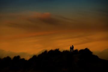 sunset in borkum island