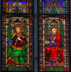 Canvas Prints Stained Stained Glass - Basilica of San Petronio, Bologna