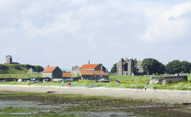 Lindisfarne Coast Holy Island northeast coast of England, Northumberland, UK