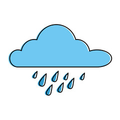 cloud rainy sky isolated icon vector illustration design