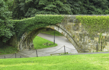Alnwick Castle arch bridge -  in the English county of Northumberland, UK
