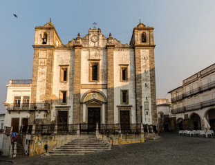 St. Anton's Church in Evora, Portugal, originated in the 16th century, located in the main town's square.