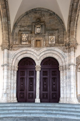 Main portal of the Church of St. Francis, in Evora, Portugal, built between 1475 and the 1550s.