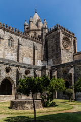 Cloisters of the Se Cathedral of Evora, Portugal, originated in the 13th century, declared a World Heritage Site by UNESCO in 1988.