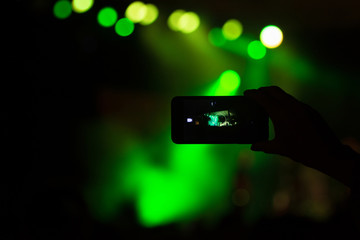 camera on concert