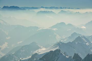 Wall Mural - Nice views on Swiss Alps from Santis peak