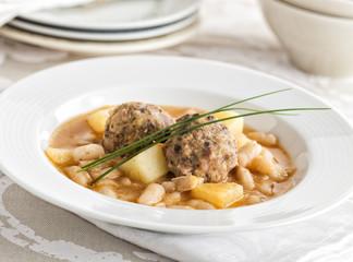 Potato and bean soup