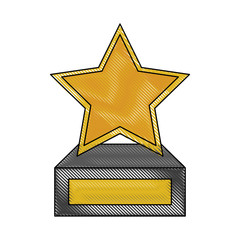 Star trophy cup icon vector illustration graphic design