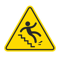 Slippery stairs warning