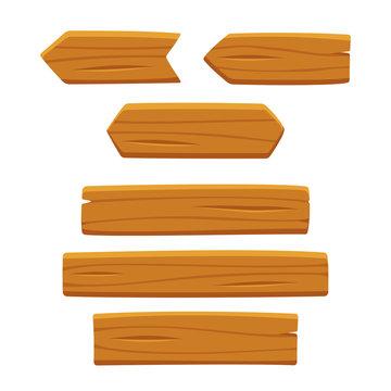Wooden planks set