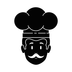 chef head avatar character vector illustration design