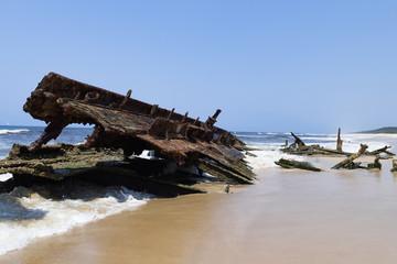 Schiffswrack am Strand - Fraser Island - Australien
