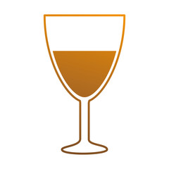 wine cup isolated icon vector illustration design