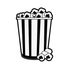 Popcorn snack food icon vector illustration graphic design