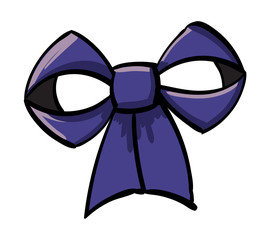 Blue-Violet Decorative Bow