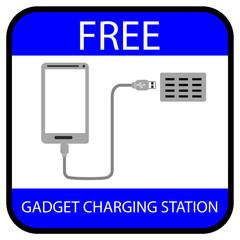 Sign - Free Gagdet Charging Station