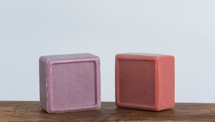 colored Turkish bath soap