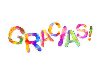 Inscription in Spanish: Thank You (gracias)