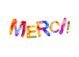 Inscription in French: Thank You (merci).