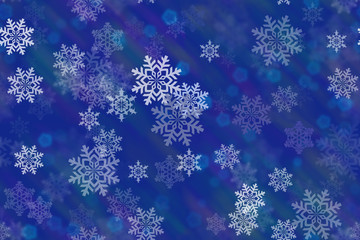 snowflakes in color rays