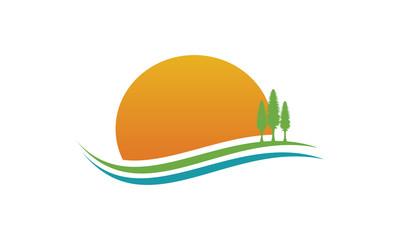landscape tree logo