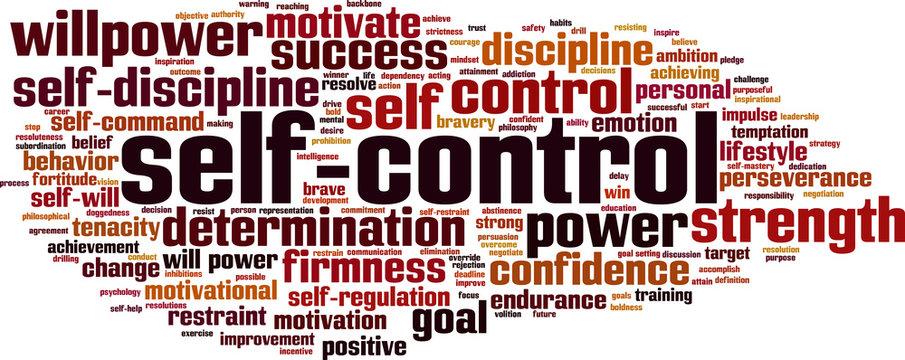 Self-control word cloud