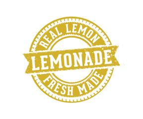 circular lemonade sign label stamp