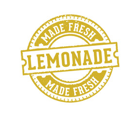 circular lemonade sign label stamp