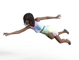 Woman Posing 3D render.