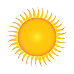 Flat sun icon. illustration on white background